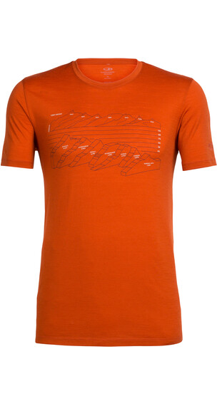 Icebreaker Tech Lite t-shirt Heren oranje